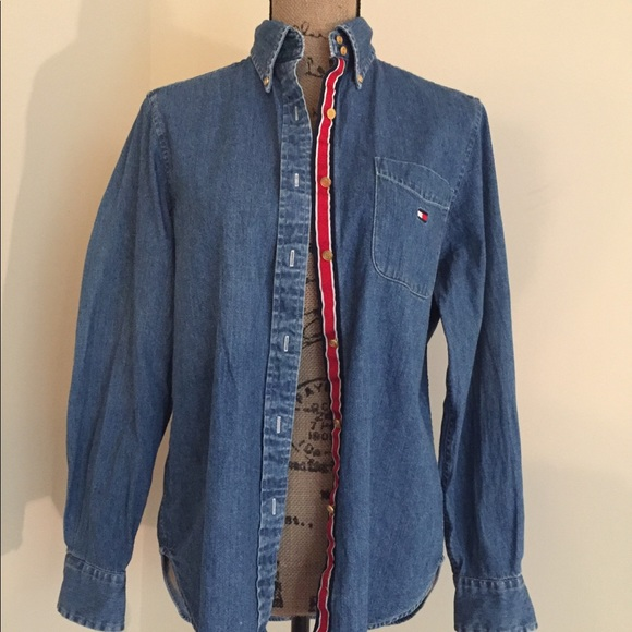 b03f2fb1 Tommy Hilfiger Tops | Vintage Womens Denim Shirt | Poshmark